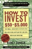How to Invest $50-$5,000, Nancy Dunnan, 0062734792