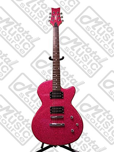 (DAISY ROCK Debutante Rock Candy Atomic Pink Electric Guitar, 14-7751, INCLUDES: 12 Daisy Rock Picks & TMS Polishing Cloth)