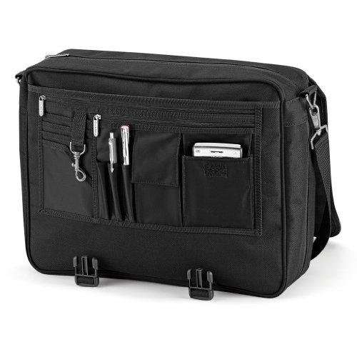 Praktische Allround Aktentasche von Quadra für Büro und Schule Black