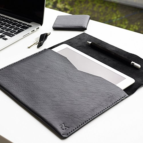 Black Google Pixelbook leather case, Chromebook leather sleeve,laptop leather folio, mens new case with Google Pen holder. // DRAFTSMAN1 by Capra Leather