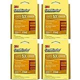 Sandblaster 3M Hand Sanding Sponge, Fine 220 Grit, 4 Pack