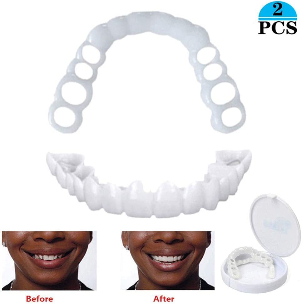 HWZXC Aparatos Ortopédicos para Dientes Prótesis Dental De Simulación Dientes Estéticos Ajuste Temporal Dientes Estéticos Flexibles para Dientes Cuidado Bucal Reutilizable