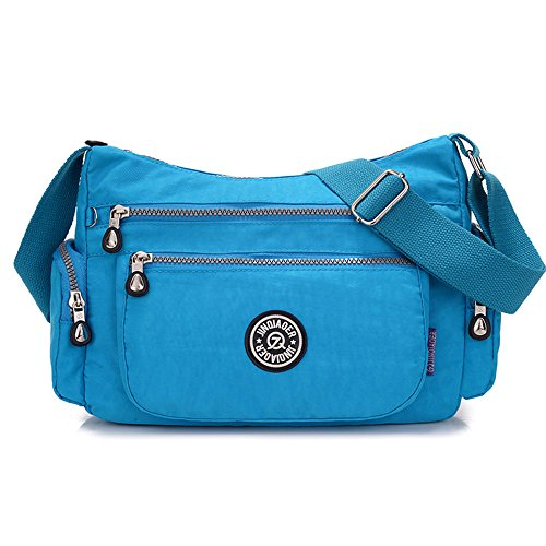 Handbag Ladies Shoulder Green Hobo Style Tote CrossBody Blue MEDIUM Messenger Designer Bag Sky wqX5tgw