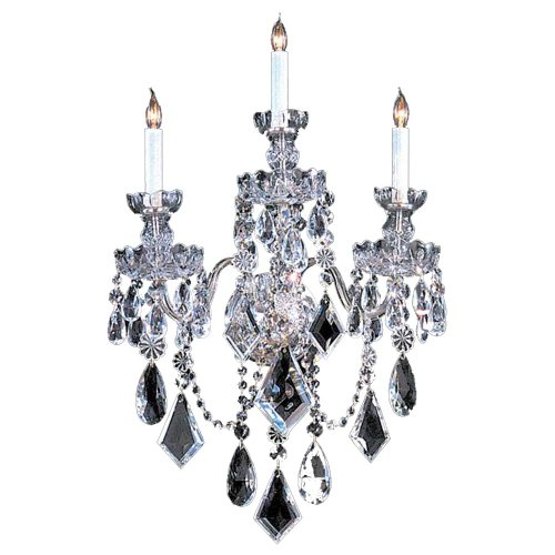 Crystorama 1043-CH-CL-MWP Crystal Three Light Wall Sconce from Traditional Crystal collection in Chrome, Pol. Nckl.finish, 7.00 inches - Traditional Chandelette
