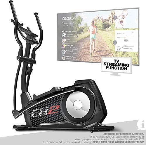 Sportstech CX2 Crosstrainer voor thuis, met stroomgenerator, Duits kwaliteitsbedrijf, interactieve video-evenementen en…