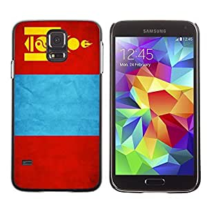 Shell-Star ( National Flag Series-Mongolia ) Snap On Hard Protective Case For Samsung Galaxy S5 V SM-G900