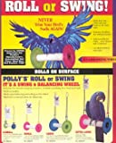 Pollys Pet Products Roll or Swing for Birds Size Small 1 x 6in Assorted Colors, My Pet Supplies