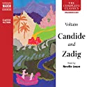 Candide and Zadig Audiobook by  Voltaire Narrated by Neville Jason