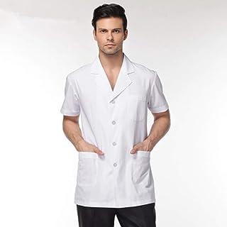 QZHE Abbigliamento medico Cappotto da Laboratorio di Servizio Infermiera Uniforme per Abbigliamento Medico da Uomo
