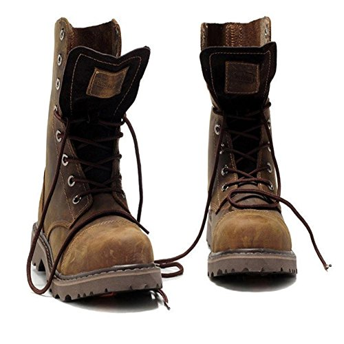 maschili in da scarpe 42 da jeans 42 stivali in peluche moto aiutare cotone gli uomo invernali neve per Scarponi brown Zvq6EH