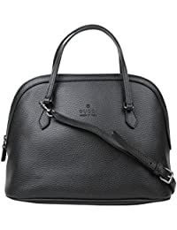 936681c08c22 Dome Black Leather Cross Body Bag With Trademark Logo 420023 1000