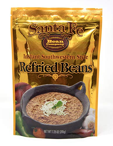 Santa Fe Bean Company Instant Southwestern Style Refried Beans 7.25-Ounce (Pack of 8) Instant Southwestern Style Refried Beans, High Fiber, Gluten-Free, A Great Source of Protein, Low ()