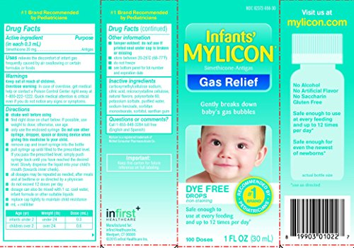 Mylicon Infant Drops Anti-gas Relief Dye Free Formula, 1 0