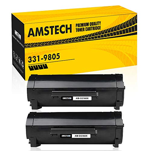 Amstech Compatible High Yield Toner Cartridge Replacement for Dell M11XH 331-9805 Toner Dell B2360DN Toner for Dell B2360DN B3465DNF B3460DN B3465DN B2360 B3460 Dell 2360 Printer (8,500 Pages)