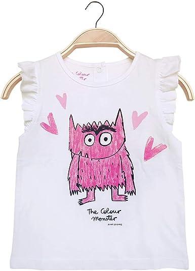El monstruo de colores, Camiseta niña: Amazon.es: Ropa y accesorios