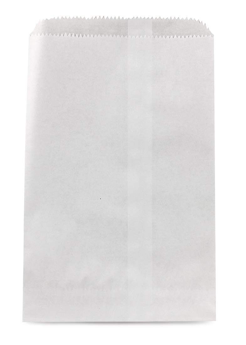 Hygloss 56001 Pinch Bottom Paper Bags 6-Inchx9-Inch 100/Pkg-White 343200