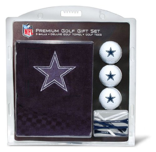 Cowboys Golf - NFL Dallas Cowboys Embroidered Golf Towel, 3 Golf Ball, and Golf Tee Set