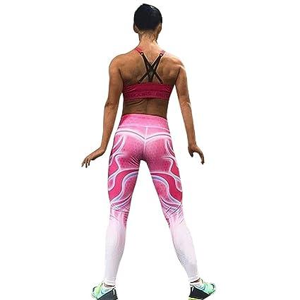 0a58a6e360b9d Leggings, Women Yoga Pants Tie Dye Ombre Gym Fitness Climbing Skinny  Fashion Trousers (S