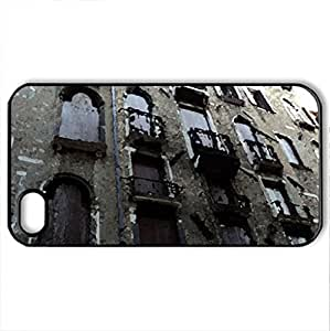 a building in venice - Case Cover for iPhone 4 and 4s (Ancient Series, Watercolor style, Black)