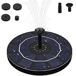 Solare Fontana Pompa, 2.5W Solare Pompe Laghetto Acqua con 4 Effetti, Mini Pompa da Pannello con Batteria di memorizzazione di energia per Piccolo Stagno, Giardino Piscina 51FYNfvGjDL. SS300