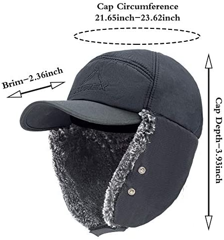 Aviator hat /' asterisk /' turning cap with ear protection
