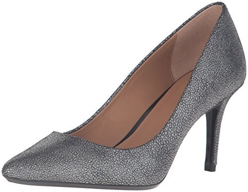 Calvin Klein Women's Gayle Dress Pump, Shadow Grey Stingray Printed Leather, 6 M US - Stingray Printed Leather
