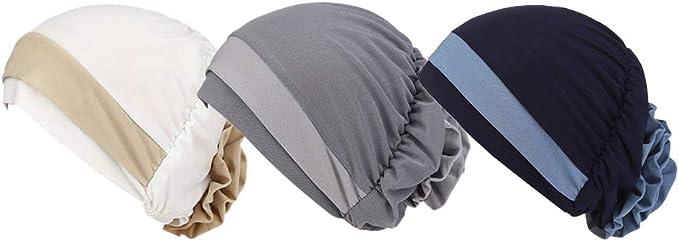 Zhhlaixing Quimio Tapa Pañuelos Gorros Oncologicos para Mujer - Plisado Turbantes Sombreros Fino Estirarse Pérdida De Cabello Gorro Hijab: Amazon.es: Ropa y accesorios