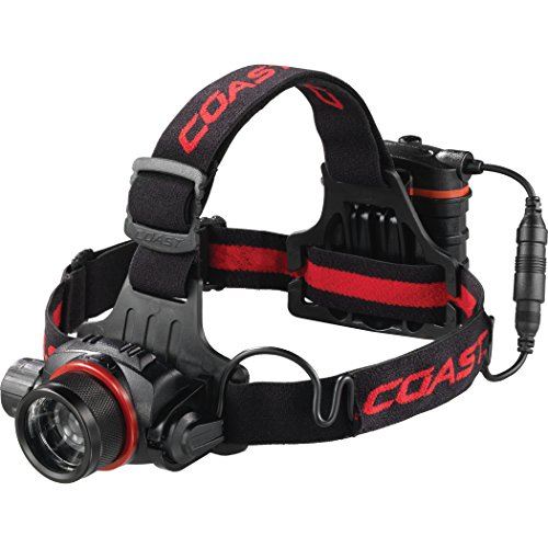 COAST HL8 615 Lumen Pure Beam Focusing LED Headlamp with Twist Focus and Light Control Dial
