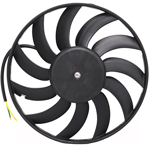 TOPAZ 4F0959455 400W Left Radiator Cooling Fan Motor Assembly for Audi A6 2006-2011 A6 Quattro 2005-2011 (Auxiliary Fan Assembly Audi)