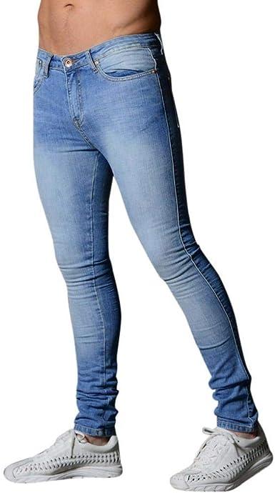 Bobolily Denim Jeans Pantalones De Corte Para Slim Pantalones Hombres De Unique Stlie Mezclilla Skinny Biker Pantalones De Entrenamiento De Color Solido Glich Fashion Amazon Es Ropa Y Accesorios