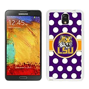 Popular Samsung Galaxy Note 3 Cover Case ,Unique And Fashionable Designed With Southeastern Conference SEC Football LSU Tigers 01 White Samsung Galaxy Note 3 Cover Good Quality Phone Case