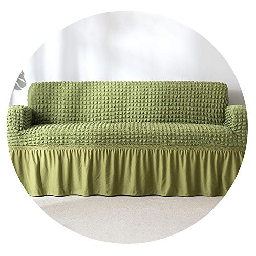 Petit couture Euro Covers for Sofas Stretch Universal Sectional Throw Couch Cover 1/2/3/4 Seat Corner Sofa Cover Elastic Sofa Slipcovers,Green,1-Seat 70-120cm