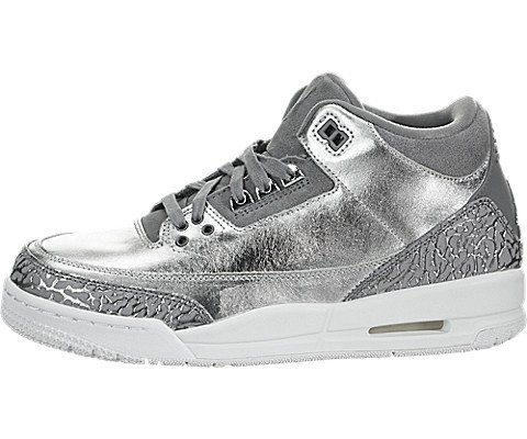 Air Jordan 3 Retro Premium HC Big Kids' Shoes Metallic Silver/ Cool Grey aa1243-020 (5.5 M US)