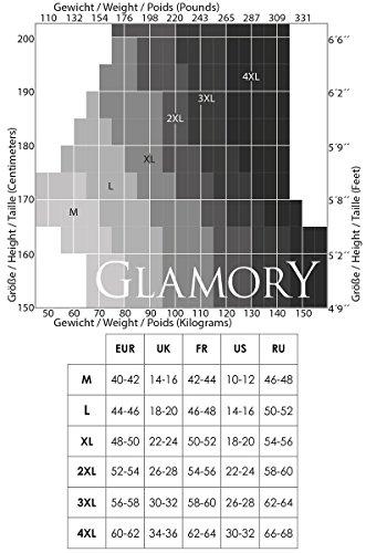 Glamory, Medias para Mujer, 20 DEN negro