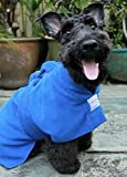 Toby and Alexander Super Absorbant, Quick Drying, Dog Bath Robe (L, Blue)