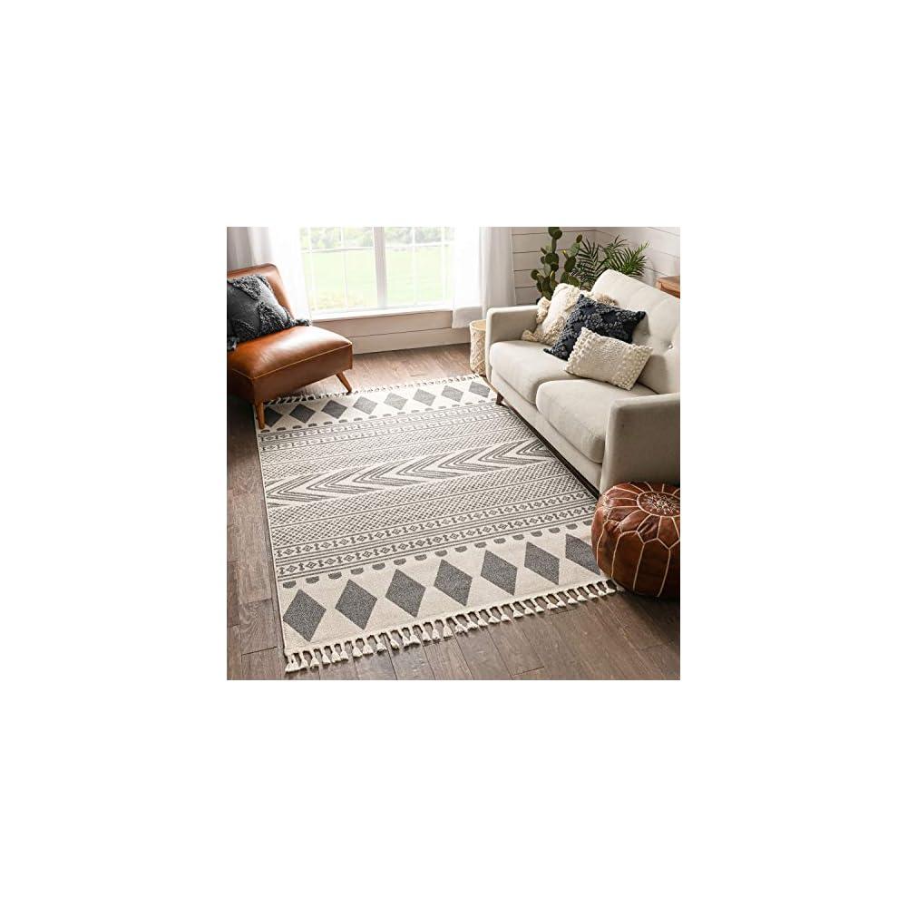 "Well Woven Crocie Grey Tribal Geometric Area Rug 8x10 (7'10"" x 10'6"")"