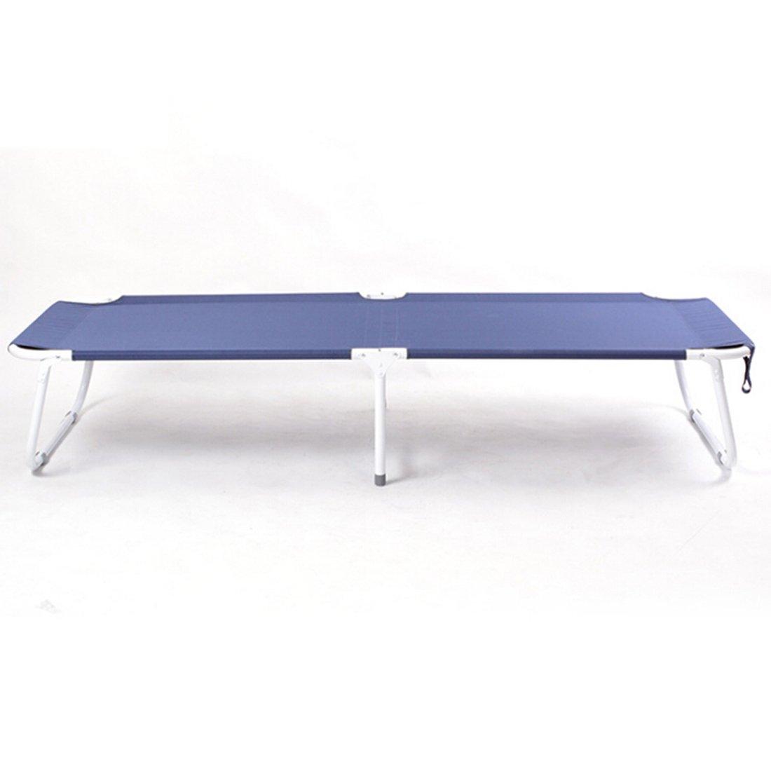 JJY Office Nap Klappbetten Einzel mit Matratze Liegestuhl Wasserdichte Oxford Tuch Einfache Freizeit,Blau