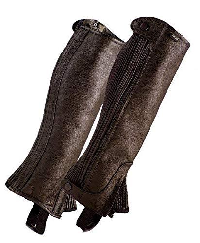 Bitter Chocolate XS Leather Toggi Castor half chaps Brown