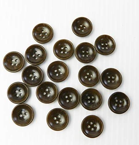 茶色ナットボタン 13.5mm 4穴 カジュアルシャツ カーディガン 最適 200個入り NUT512-13.5-BR-006