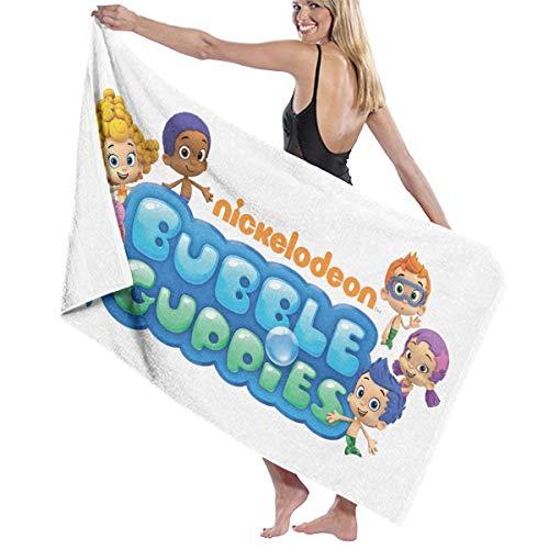 LPLZM Bath Towel, Bubble Guppies Logo Bath Towels Super Absorbent Beach Bathroom Towels for Gym Beach SWM Spa