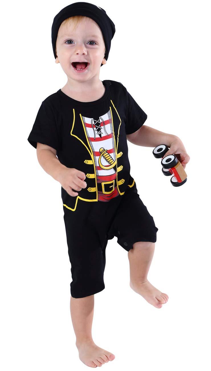 MOMBEBE COSLAND Baby Boys Pirate Romper 4PCs Costume