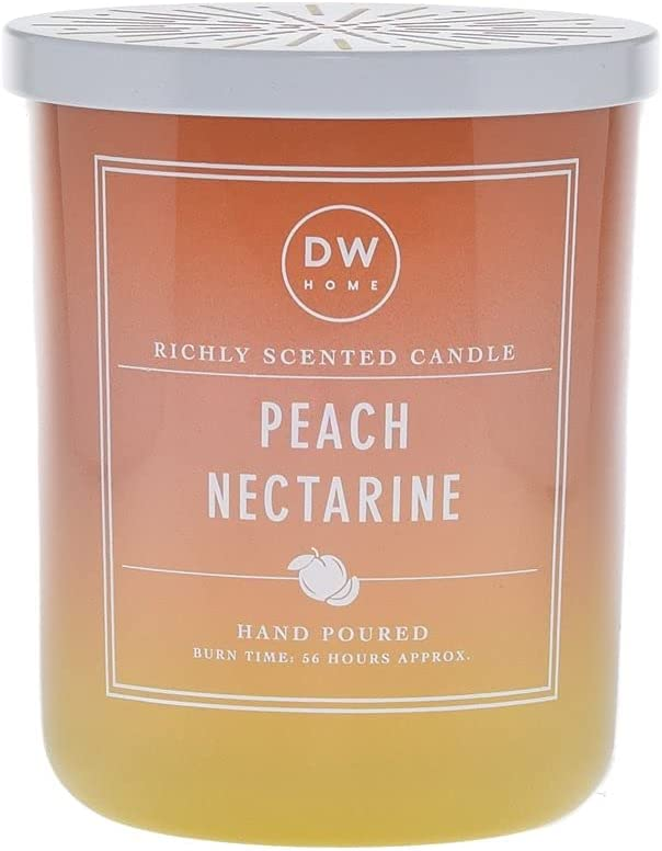 DW Home Hand Poured Richly Scented Peach Nectarine Large Double Wick Candle