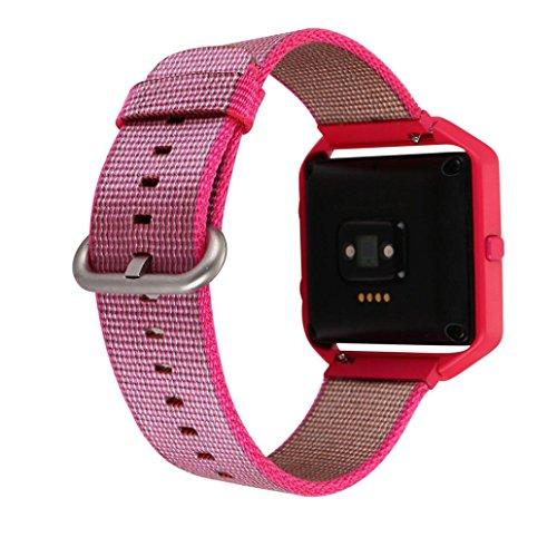 for-fitbit-blaze-accessiorykshion-cadre-en-nylon-montre-bracelet-bande-acier-metal-for-fitbit-blaze-