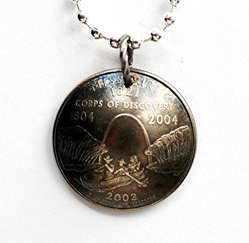 Domed Coin Necklace Missouri State Quarter Pendant 2003