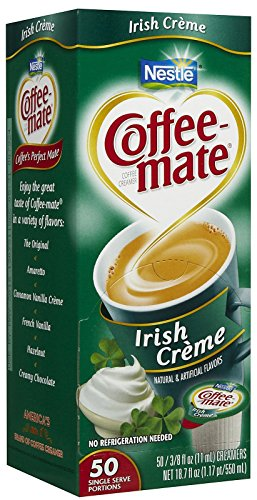 Coffee-hubby Liquid Creamer Singles - Irish Creme - 50 ct