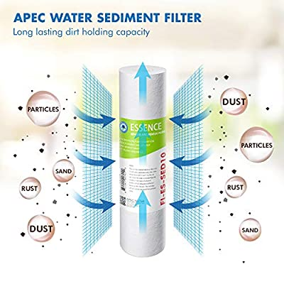 APEC Water Systems FILTER-SET-ESX2 Essence Set of Pre-Stage Filter Replacement for ROES-50 pack of 2 sediment and 4 carbon black Filters