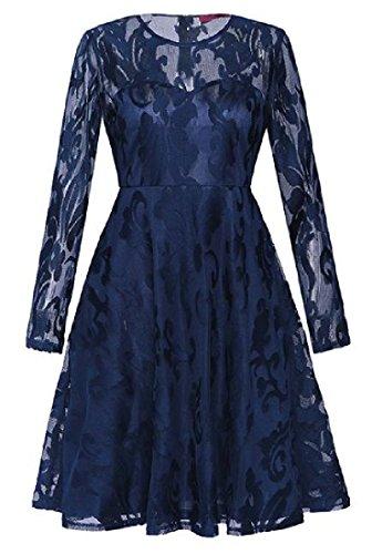 Lace Coolred Accept Solid As1 Dress Waist Long Sleeve Mini Women Evenning 77qxXgP
