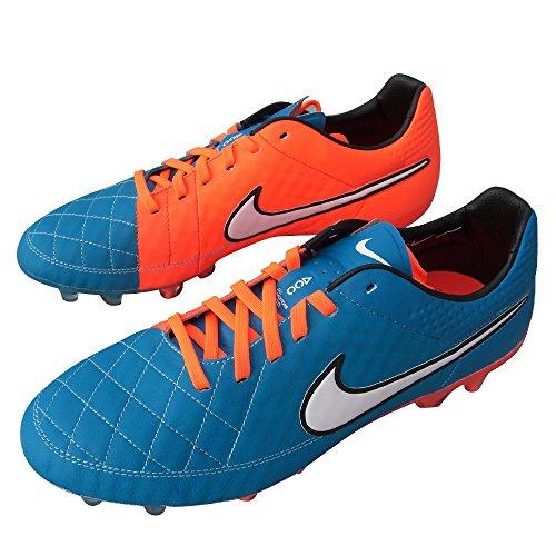 Nike Tiempo Legend V FG 631518 419 Blau-Orange Fußballschuhe Größe 41