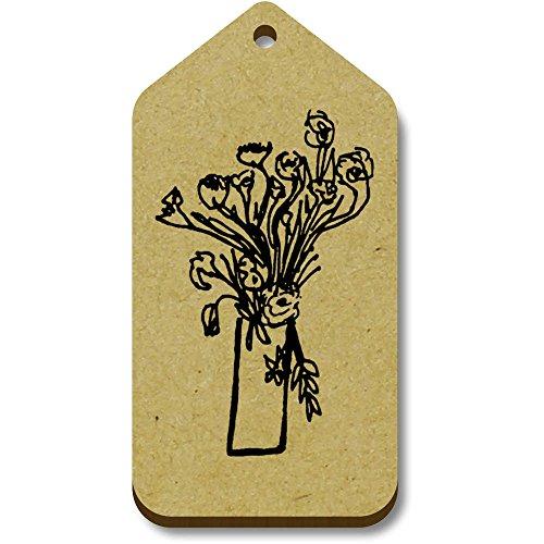 X 66mm tg00064085 equipaje 10 Etiquetas Flores' Regalo 'hermosas 34mm Azeeda z5IPnqPv