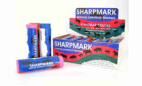 SHARPMARK Livestock Marker Crayons for Cows, Cattle, Pigs...